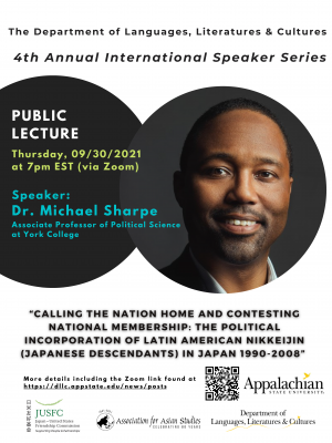 DLLC 4th Annual International Speaker Series Featuring Dr. Michael Sharpe