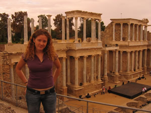 Laura in Extremadura, Spain, where she now lives