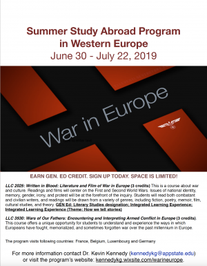 2019 Summer Study Abroad Program in Western Europe: