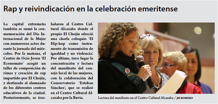 picture of Laura as shown in article from article from Voz emérita